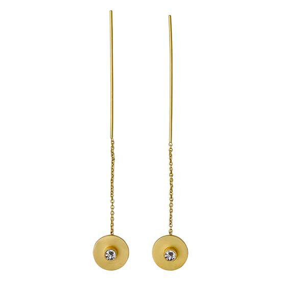 PILGRIM øreringe, guld belagt krystal