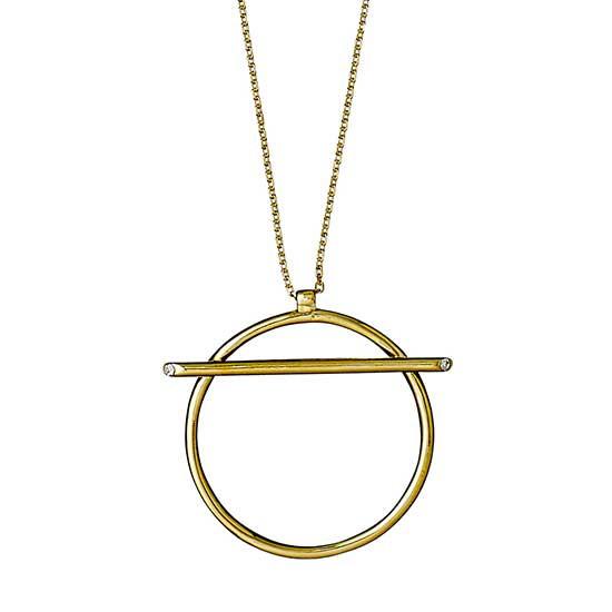 PILGRIM halskæde, guld belagt krystal