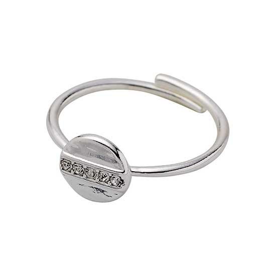 PILGRIM ring, sølv belagt krystal