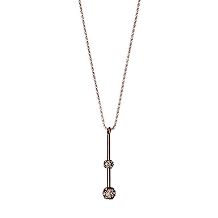 PILGRIM halskæde, rosa guld