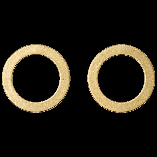 PILGRIM øreringe,  , guld belagt