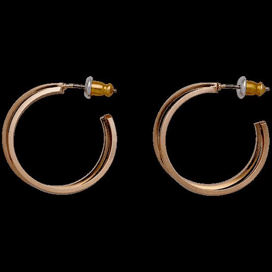 PILGRIM øreringe, rosa guld farvet