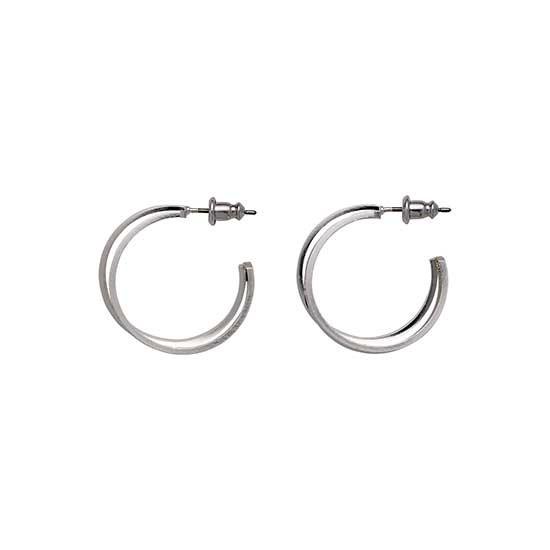 PILGRIM øreringe, silver plated