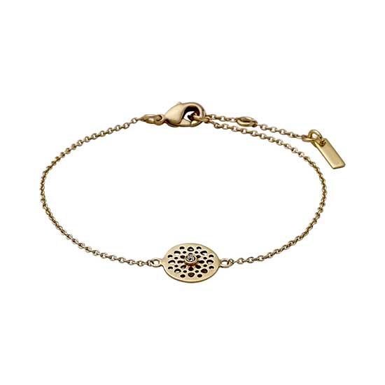 PILGRIM armbånd, guld belagt krystal