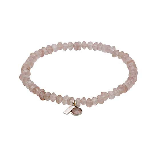 PILGRIM armbånd, sølvbelagt rosa