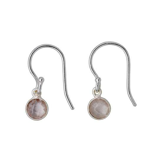 PILGRIM øreringe, sølv belagt rosa