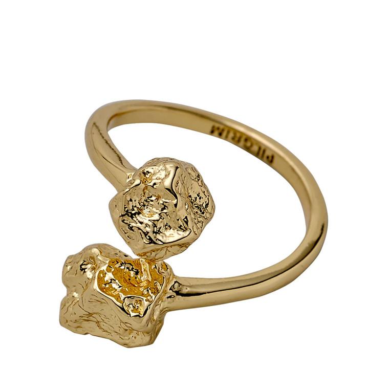 PILGRIM ring, guld belagt
