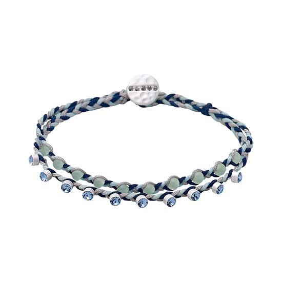 PILGRIM armbånd, sølv belagt grøn