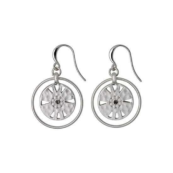 PILGRIM øreringe, sølv belagt grå
