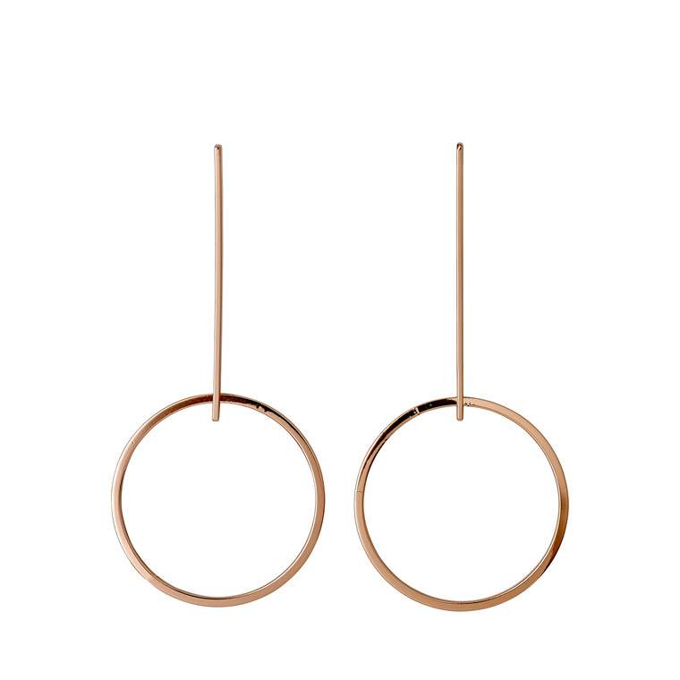 PILGRIM øreringe, rosa guld belagt
