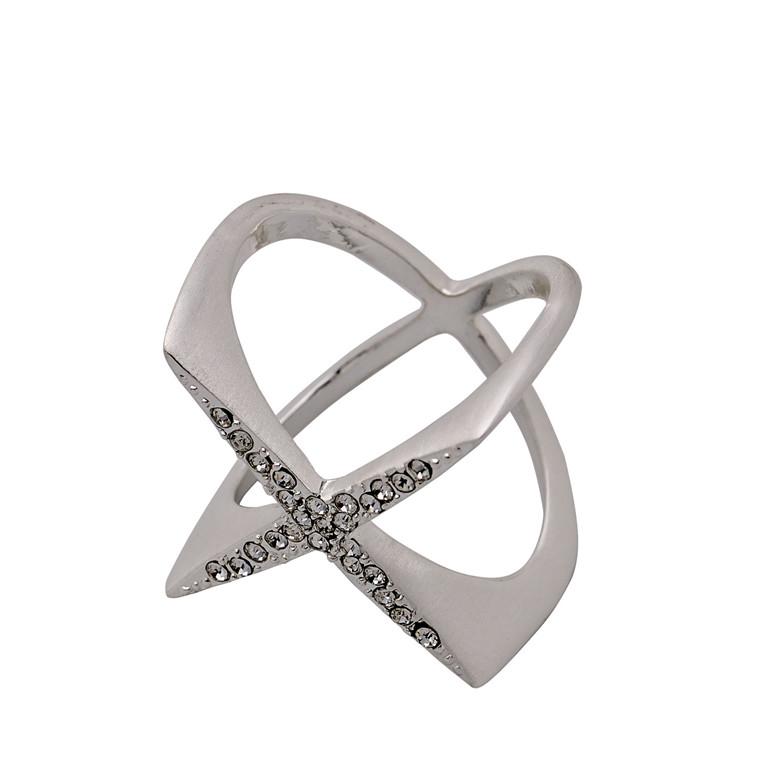 PILGRIM ring, sølv belagt, krystal
