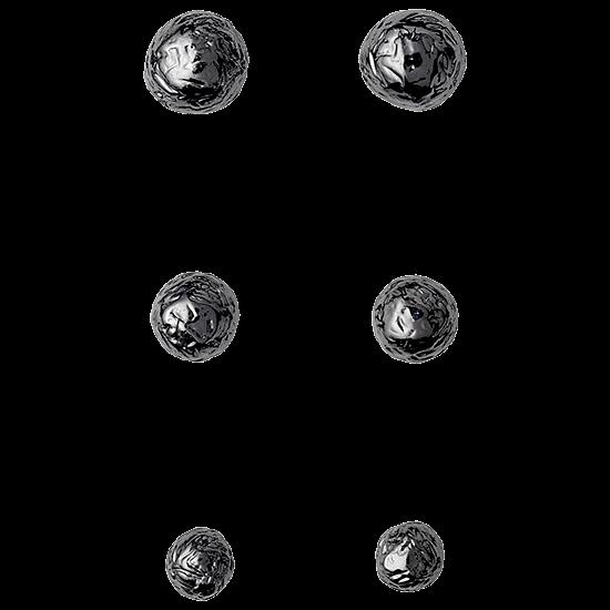 PILGRIM øreringe, hematite farvet 3 in