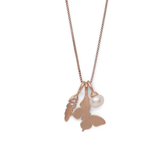 PILGRIM Fortune halskæde, rosa guld