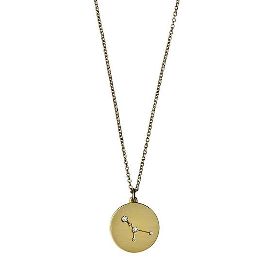 PILGRIM Stjernetegnshalskæde Krebsen, guld