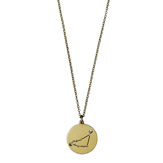 PILGRIM Stjernetegnshalskæde Stenbukken, guld