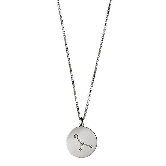 PILGRIM Stjernetegnshalskæde Krebsen, sølv