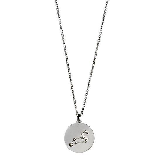 PILGRIM Stjernetegnshalskæde Løven, sølv