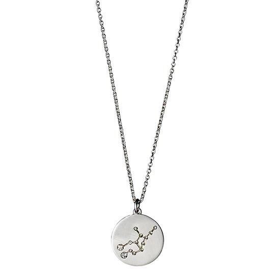 PILGRIM Stjernetegnshalskæde Jomfruen, sølv