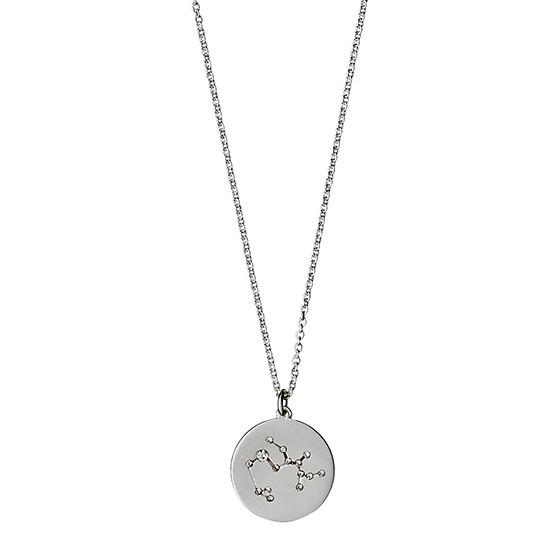 PILGRIM Stjernetegnshalskæde Skytten, sølv