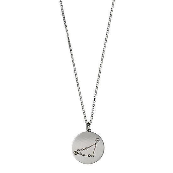 PILGRIM Stjernetegnshalskæde Stenbukken, sølv