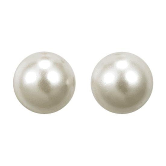 PILGRIM ørering, sølv belagt, hvid
