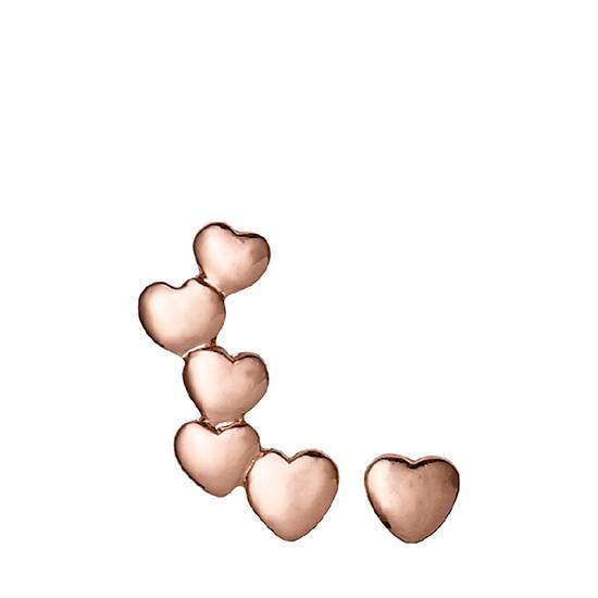 PILGRIM øreringe, rosa guld