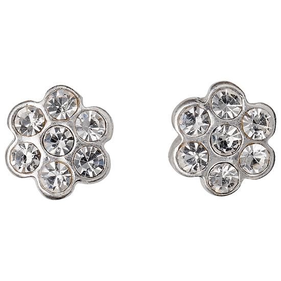 PILGRIM øreringe, sølv belagt, krystal