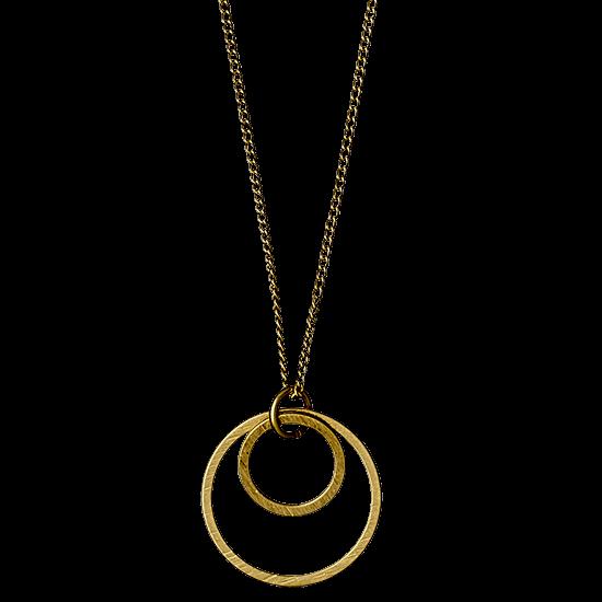 PILGRIM halskæde, guld belagt 45 cm