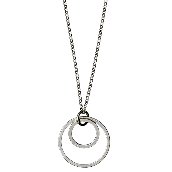 PILGRIM halskæde, silver plated 45 cm