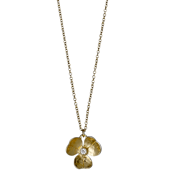 PILGRIM halskæde, guld belagt 40+9 cm,