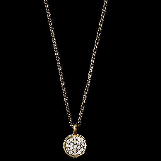 PILGRIM Halskæde, guld, krystal