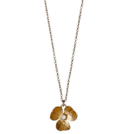 PILGRIM halskæde, rosa guld farvet + g