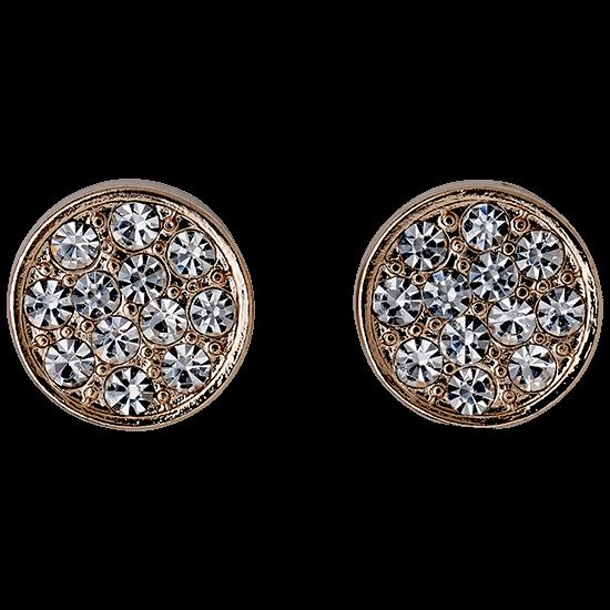 PILGRIM Øreringe, rosa guld, krystal
