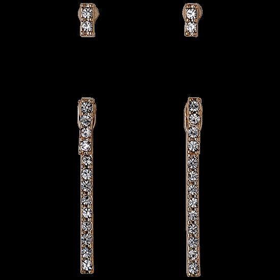 PILGRIM øreringe, rosa guld farvet 4 i