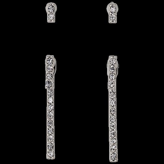 PILGRIM øreringe, silver plated 4 in 1