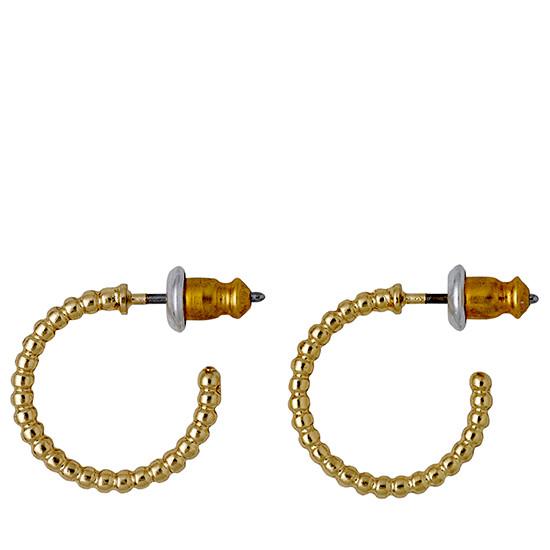 PILGRIM øreringe, guld belagt