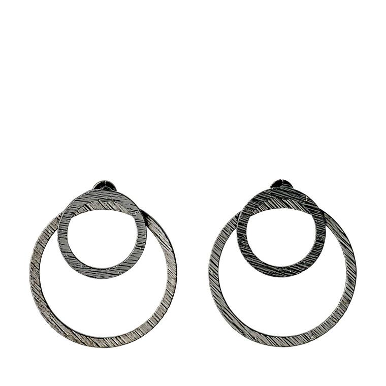 Pilgrim Earrings Zooey Hematite Color