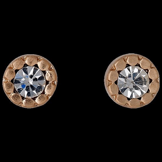 PILGRIM øreringe, rosa guld farvet, kr