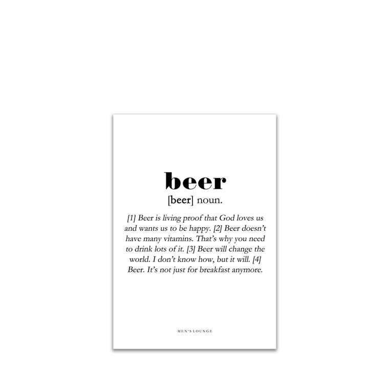 MEN'S LOUNGE Beer Definition A5