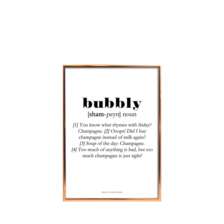 MEN'S LOUNGE Bubbly Definition A5