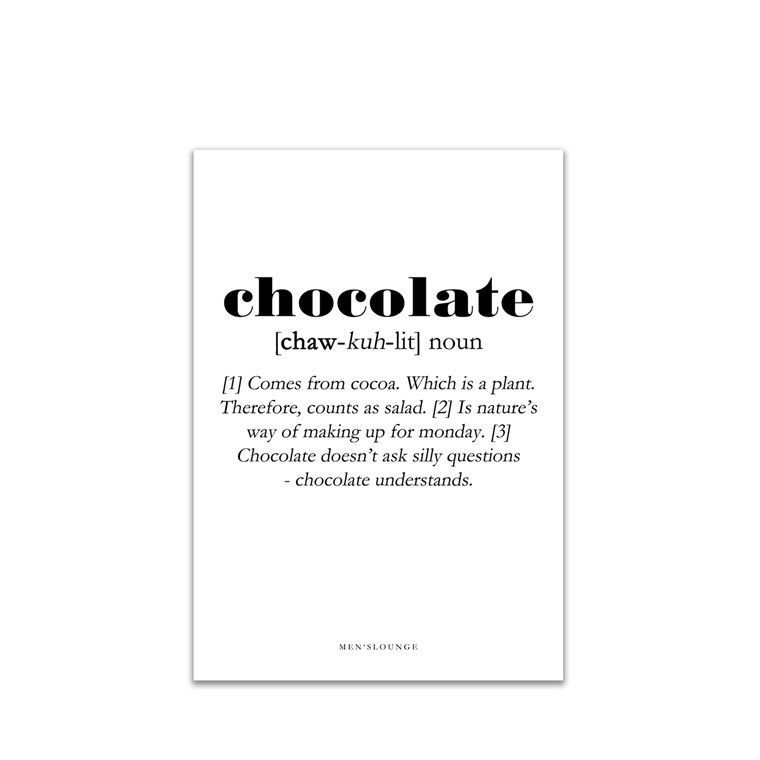 MEN'S LOUNGE Chocolate Definition A4