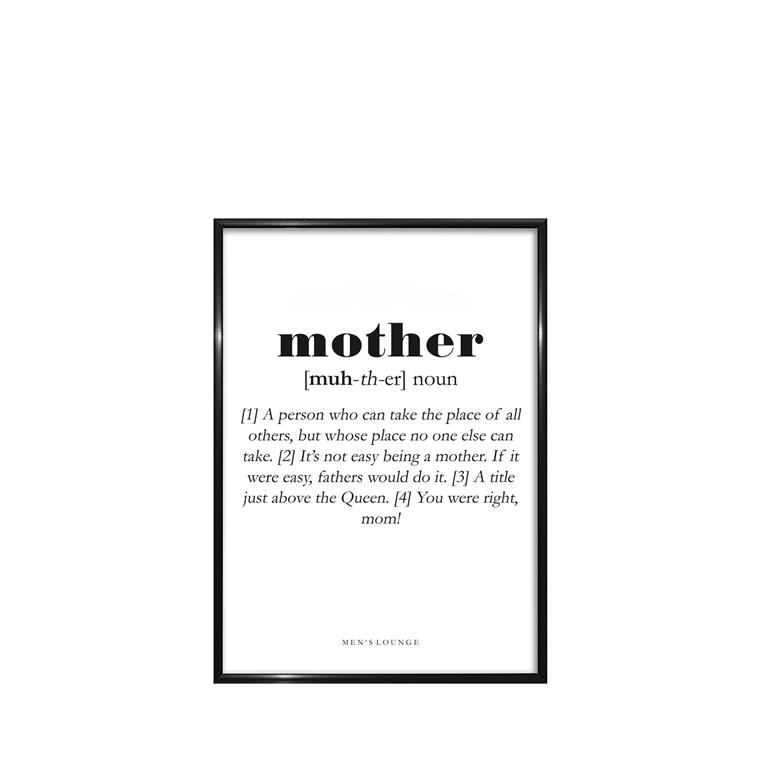 Men's Lounge Plakat - Mother A5
