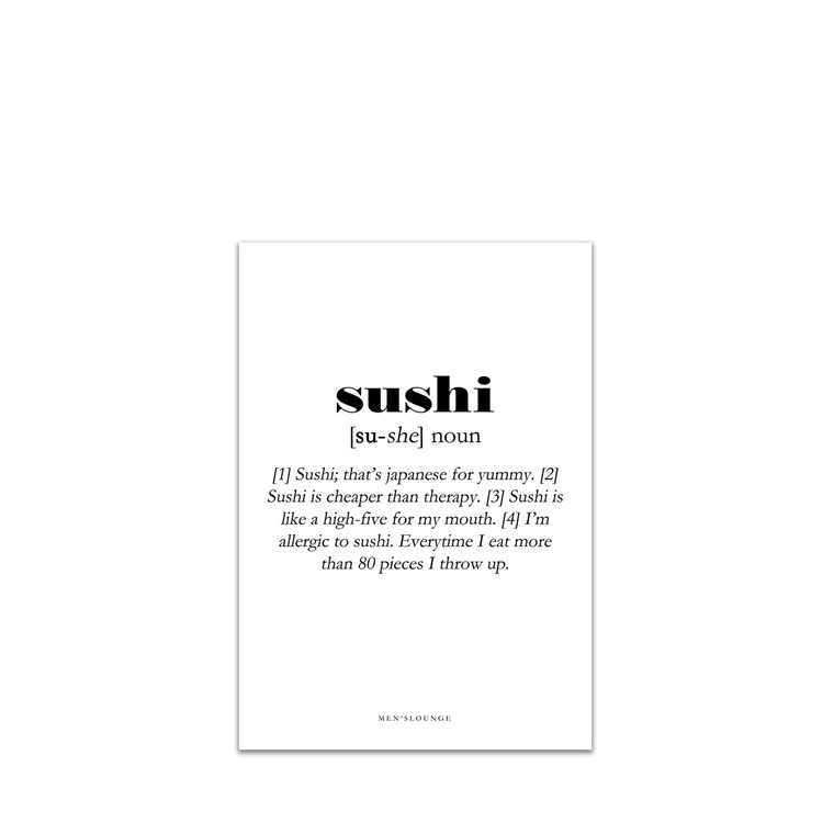 MEN'S LOUNGE Sushi Definition A5