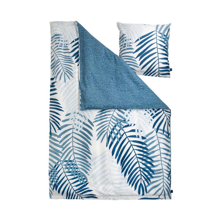 Notes by Susanne Schjerning Palm Leaves sengelinned 140 x 220 cm blå