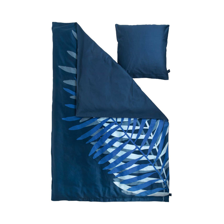 Susanne Schjerning Giant Palm sengelinned 140 x 220 cm blå