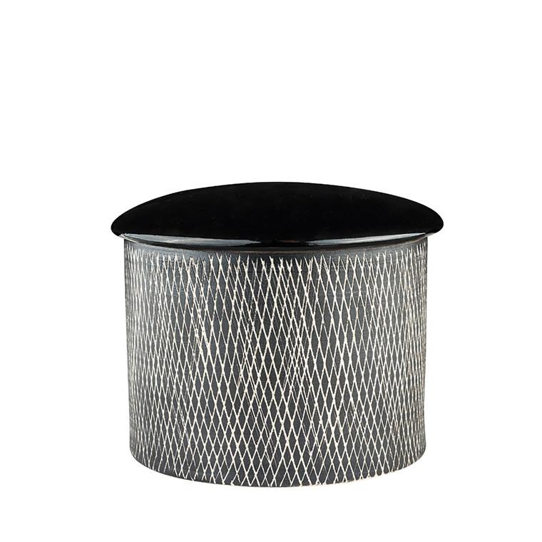 Just Retro skål med låg sort