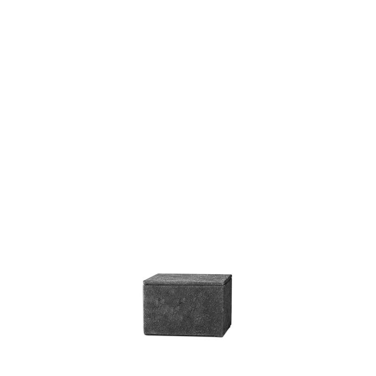 AMACE Suede opbevaringsboks mørk grå 12 X 14 cm