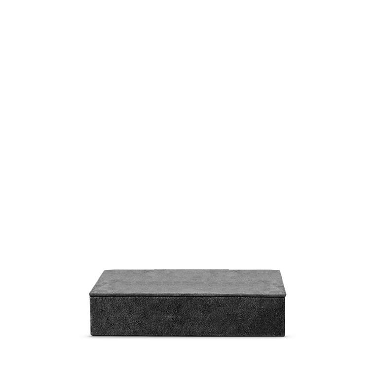 AMACE Suede opbevaringsboks mørk grå 26  X 14 cm