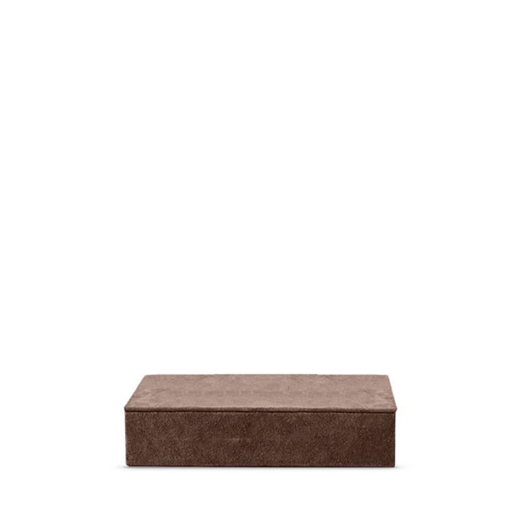 Amace Suede Box coral 26 x 14 x 6 cm