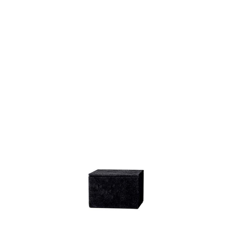 AMACE Suede opbevaringsboks sort 12 X 14 cm